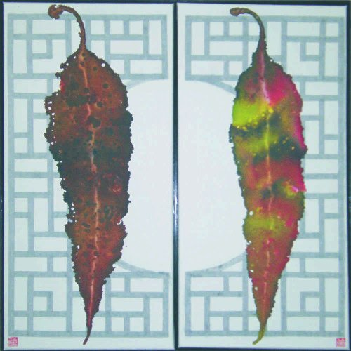 Gum leaves – diptych